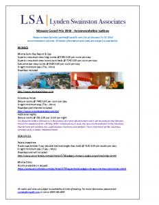 Monaco Grand Prix 2018 – Accommodation options